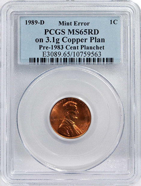PCGS Certifies TRANSITIONAL 1989-D Lincoln Cent Struck on a