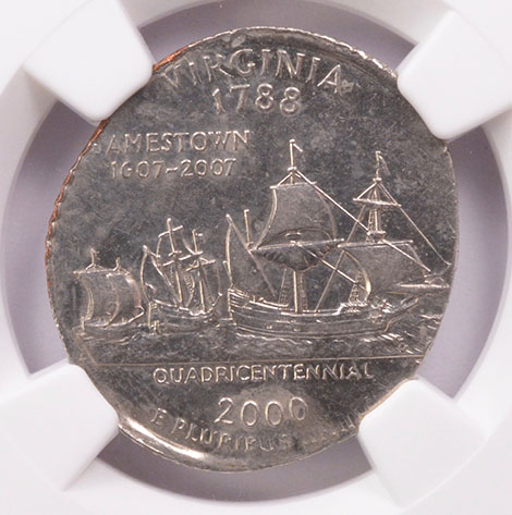 A Collection of State Quarters Struck on Elliptical Planchets
