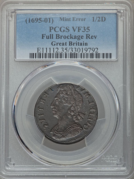 Brockages on World Coins From The September 2016 Long Beach