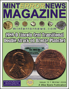 1989-D Lincoln Cent Transitional Double Struck on Bronze